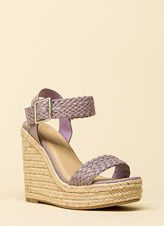 High Time Woven Platform Wedges