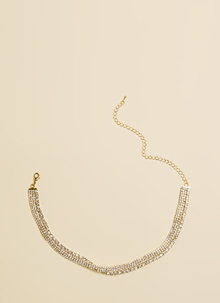 Glitz And Glam Faux Diamond Choker