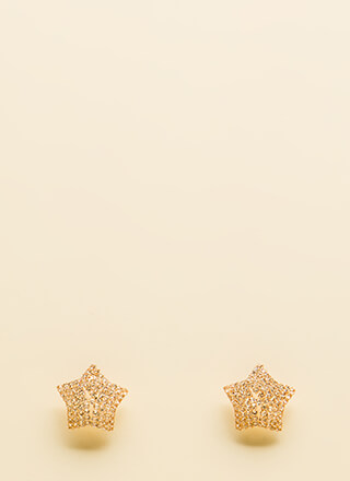 Star Search Rhinestone Earrings