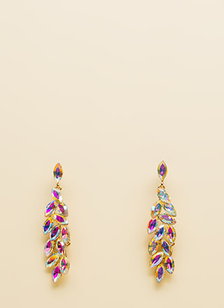 Glam Squad Iridescent Faux Gem Earrings