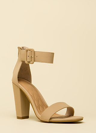 Feels Good Chunky Faux Nubuck Heels