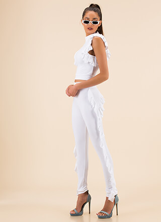 Get Your Frill Ruffled Top And Pant Set