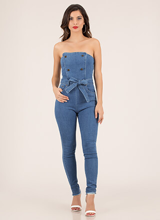 Jean-ius Idea Strapless Denim Jumpsuit