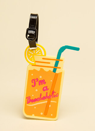 I'm A Beachaholic Luggage Tag