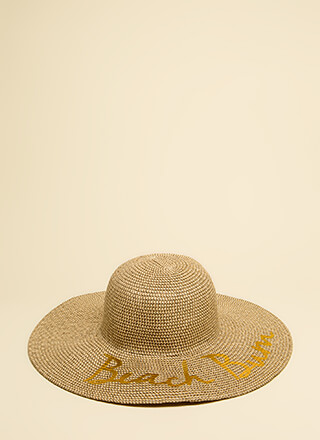 Beach Bum Floppy Woven Sun Hat