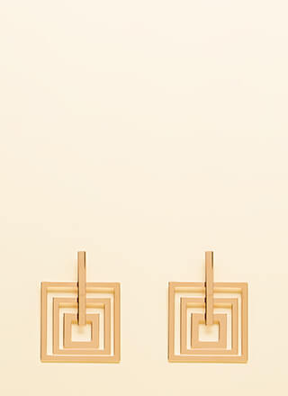 Squared And Cubed Cut-Out Earrings