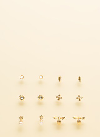 In Tune With Nature Jeweled Earring Set