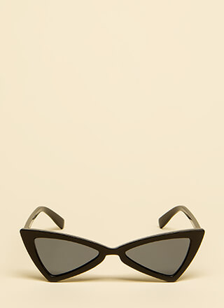 Picture Show Flared Cat-Eye Sunglasses