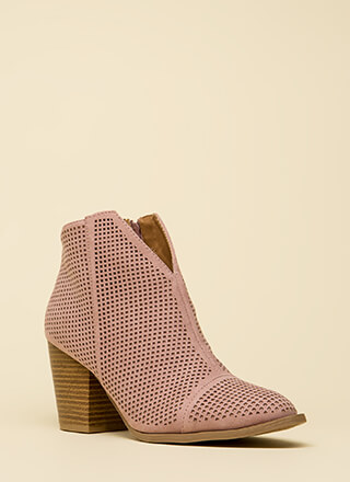 Net Worth Notched Chunky Booties