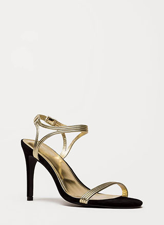 Hit All The Right Cords Strappy Heels