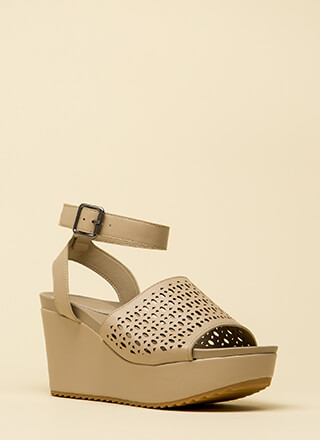 Dancing Through Life Latticed Wedges