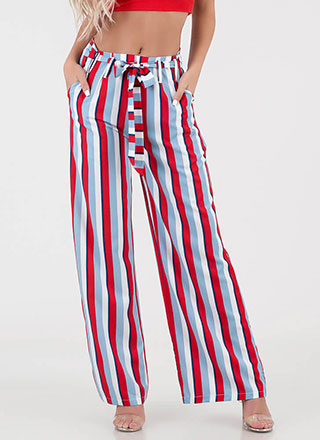Big Statement Striped Palazzo Pants