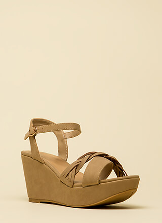 Braided Beauty Platform Wedges