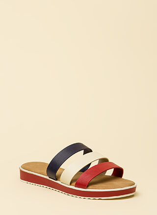 3 Straps And You're Out Platform Sandals