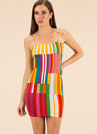 Play A Few Bars Striped Minidress