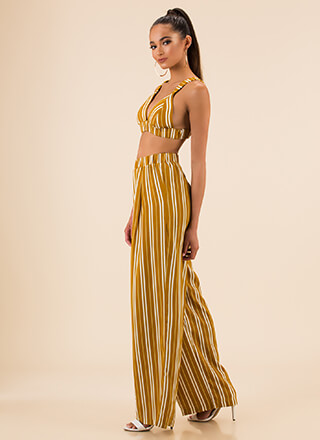 All You Need Is Stripes Top And Pant Set