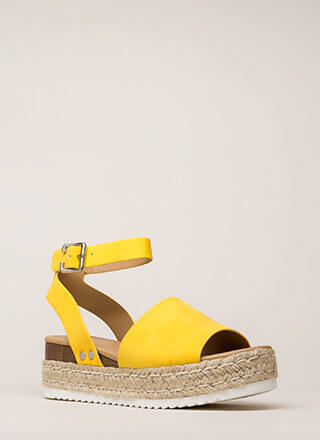Vacation Time Braided Wedge Sandals