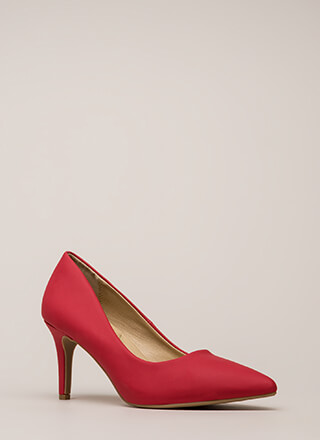 Everyday Heels Faux Leather Pumps