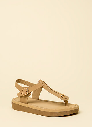 8caf00b85c68 Walk Away Faux Nubuck T-Strap Sandals