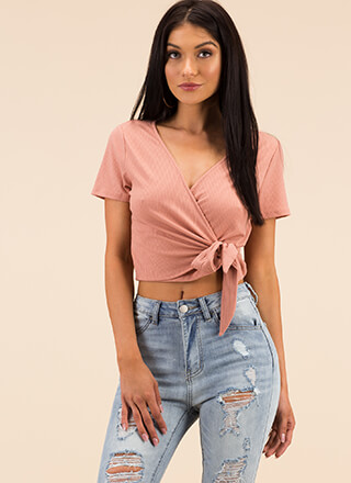 Perfect Look Tied Wrapped Crop Top