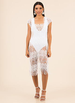 Flapper Party Fringed Swim Cover-Up