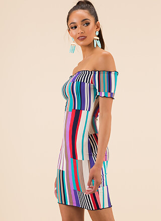 Color This Mine Off-Shoulder Dress