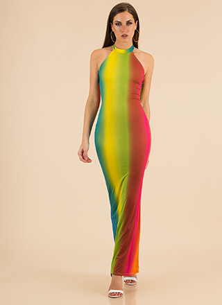 The Perfect Blend Ombre Halter Maxi