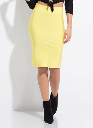 Hug My Curves Bandage Pencil Skirt