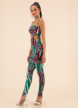Striped Sensation Jumper Jumpsuit