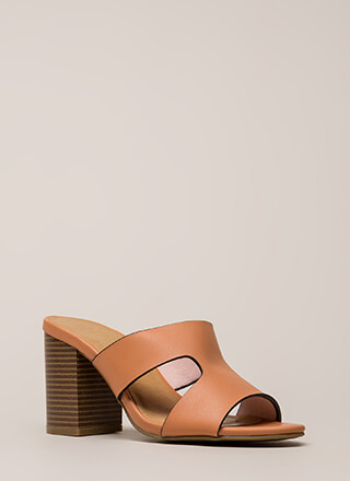 New Class Chunky Cut-Out Mule Heels