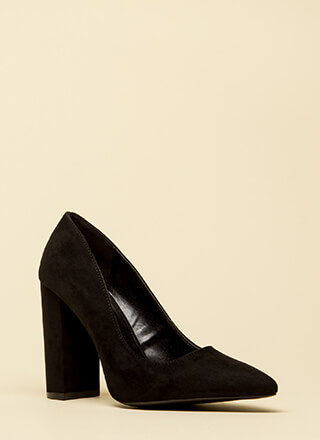 Chunky Pointy And Perfect Pumps