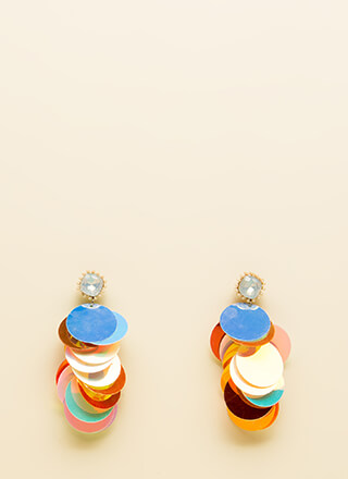 Stunning Statement Jeweled Disc Earrings