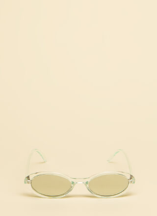 Get Oval It Clear Frame Sunglasses