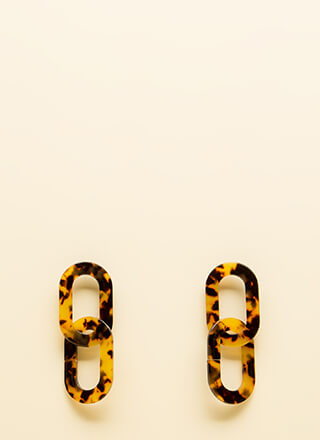 There's A Link Faux Tortoise Earrings