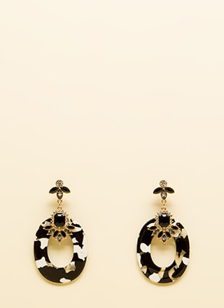 All The Marble Jeweled Earrings