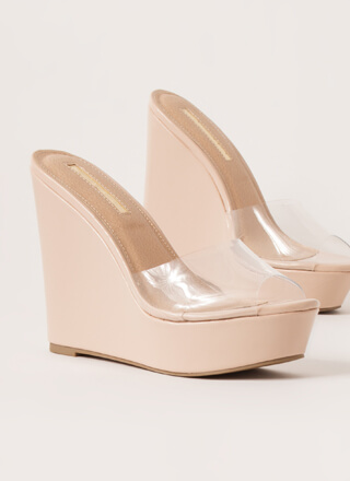 Clearly Must-Have Platform Wedges