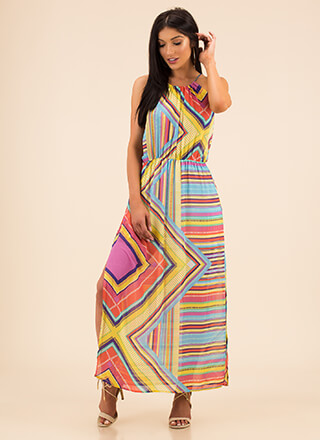 Shapes And Stripes Double Slit Maxi