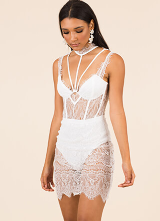 For The Love Of Lace Strappy Dress