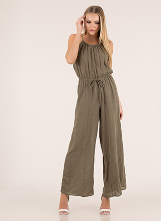 Casual Cool Cotton Palazzo Jumpsuit