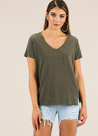Everyday Struggle V-Neck Pocket Tee