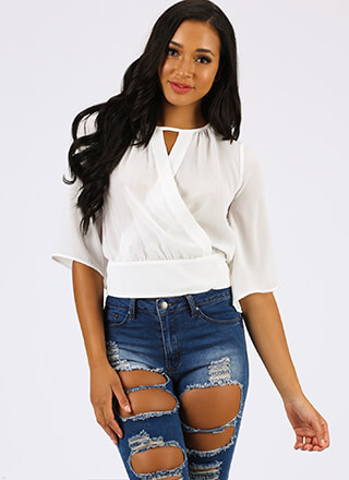 Floating On Air Tie-Back Blouse