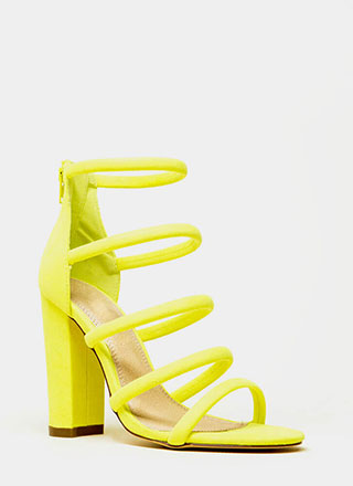 Five-Piece Band Strappy Chunky Heels