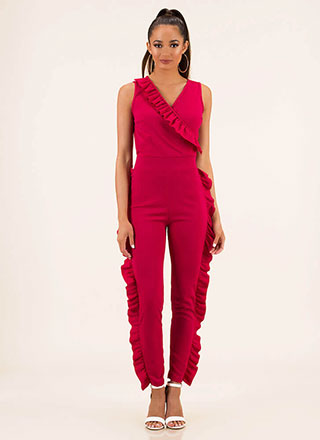 Frilling Moment Ruffled Jumpsuit