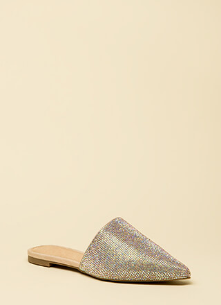 Slip Me A Message Pointy Jeweled Flats
