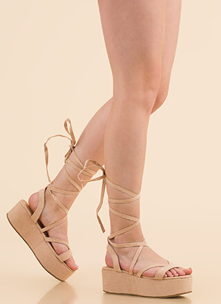 Slim Thick Lace-Up Platform Sandals