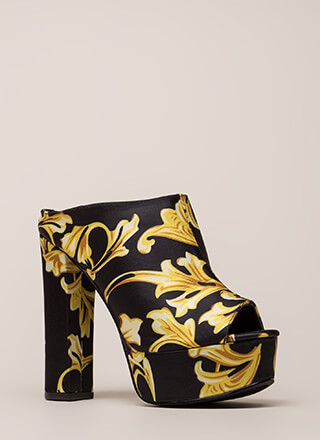 Cut It Chunky Peep-Toe Platform Booties
