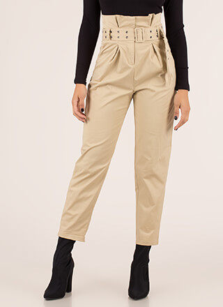 Belt It Out Paper-Bag Waist Trousers