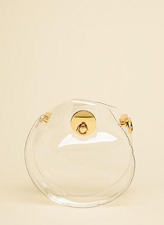 Round Of Applause Clear PVC Clutch