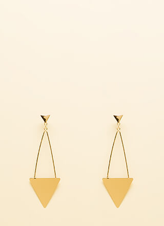 Right This Way Triangle Earrings