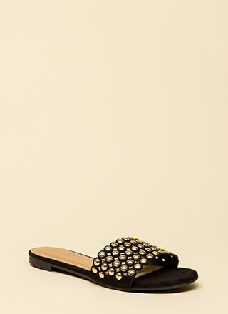 Splendid Studded Slide Sandals